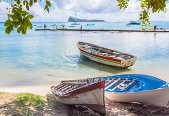 Barques de pêche à Cap Malheureux, Coin de Mire, Maurice