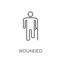 Wounded linear icon. Modern outline Wounded logo concept on white background from Insurance collection