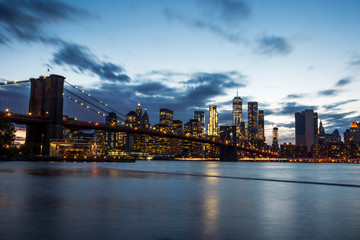 Manhattan Skyline at sunset. New York.