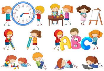 Set of doodle kids activity