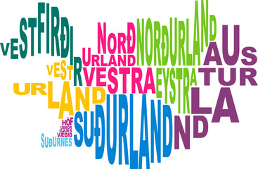 Provinces of Iceland word cloud