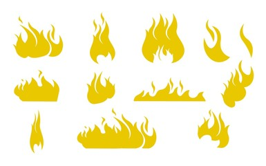 Vector Illustration Cartoon Silhouettes Fire