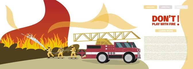 Vector Illustration Cartoon Fire Extinguishing