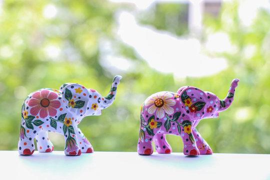 Painting Elephant souvenir at Chiang Mai