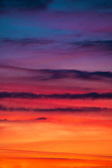 Colorful sky/clouds; colorful sky palette