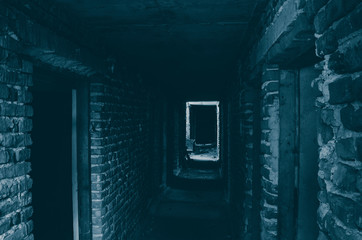 Haunted Halloween house corridor