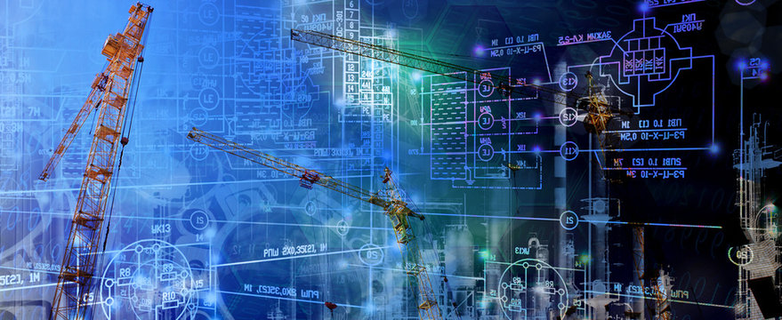 industrial construction technology.engineering background