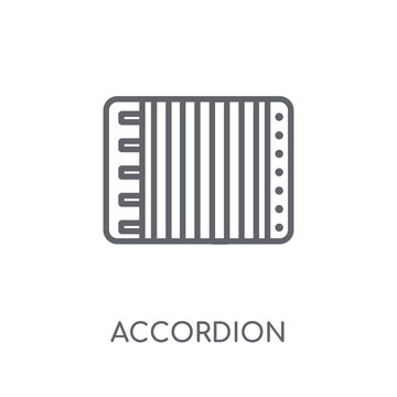 Accordion linear icon. Modern outline Accordion logo concept on white background from Music collection