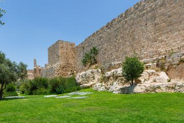 Walls and King David tower