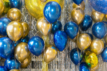 Multi colored balloons and Celebration background for invitation, festival, birthday concept.