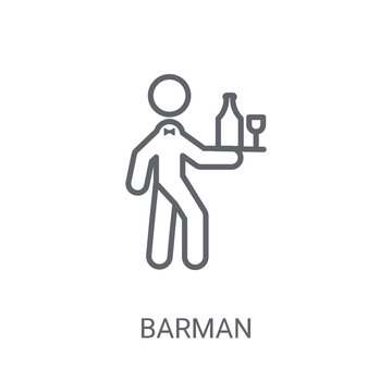 Barman icon. Trendy Barman logo concept on white background from People collection