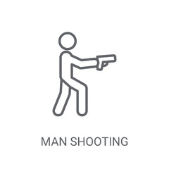 man Shooting icon. Trendy man Shooting logo concept on white background from People collection