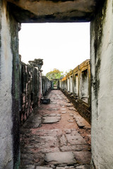 Beautiful photo of thai phimai angkor era temple ruin taken in thailand