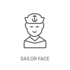 Sailor face icon. Trendy Sailor face logo concept on white background from People collection