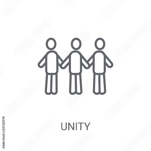 Unity icon  Trendy Unity logo concept on white background