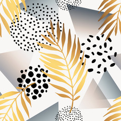 Abstract summer seamless pattern.