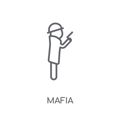 Mafia linear icon. Modern outline Mafia logo concept on white background from Professions collection