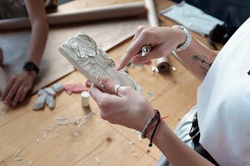 Creative handmade linocut