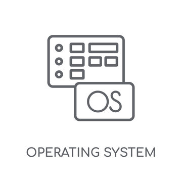 Operating system linear icon. Modern outline Operating system logo concept on white background from Programming collection