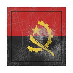 Angola flag in concrete square