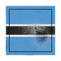Botswana flag in concrete square
