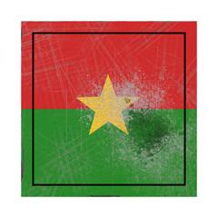 Burkina Faso flag in concrete square