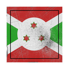 Burundi flag in concrete square