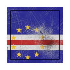 Cape Verde flag in concrete square