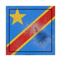 Democratic Republic of Congo flag in concrete square
