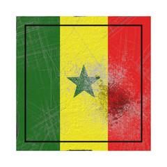 Senegal flag in concrete square