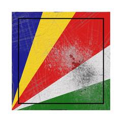 Seychelles flag in concrete square