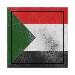 North Sudan flag in concrete square