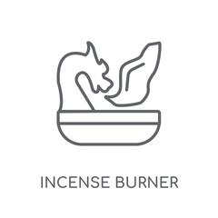 Incense burner linear icon. Modern outline Incense burner logo concept on white background from Religion-2 collection