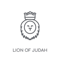 Lion of Judah linear icon. Modern outline Lion of Judah logo concept on white background from Religion-2 collection