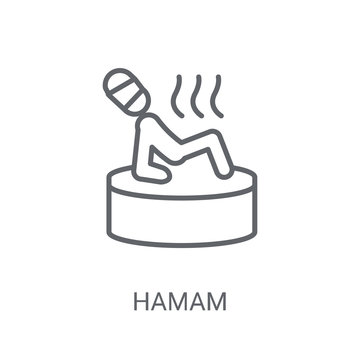 Hamam icon. Trendy Hamam logo concept on white background from sauna collection