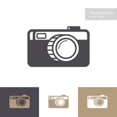 Vector photo camera icon set flat style isolated on background for photography logo, photostudio, photoalbum, photoschool, photoeducation, photolaboratory, food photo, wedding. 10 eps