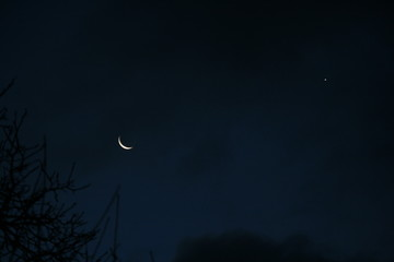 Sichelmond und Venus am Morgenhimmel 5