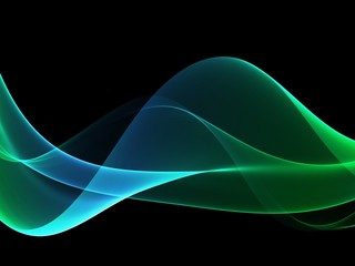 Wave abstract images, color design Abstract colored wave