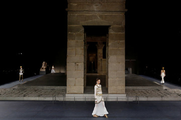 Models present creations during the CHANEL Paris New York Métiers d'art 2018/19 Show at Metropolitan Museum of Art in New York