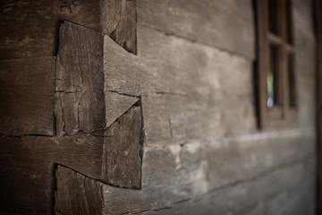 Wood jointing at an old house