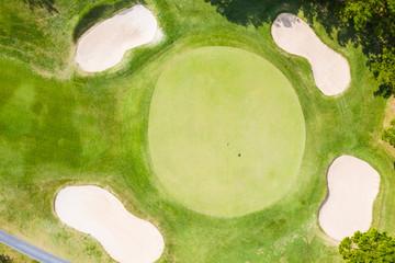 ゴルフ場の航空写真