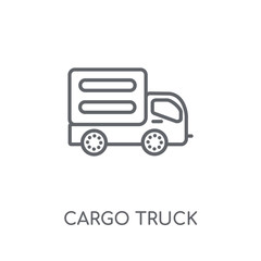 Cargo truck linear icon. Modern outline Cargo truck logo concept on white background from Transportation collection