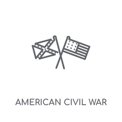 american civil war linear icon. Modern outline american civil war logo concept on white background from United States of America collection