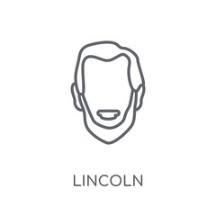 Lincoln linear icon. Modern outline Lincoln logo concept on white background from United States of America collection