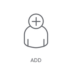 Add linear icon. Modern outline Add logo concept on white background from User Interface and Web Navigation collection