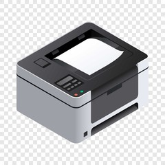 Printer icon. Isometric of printer vector icon for web design