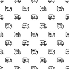 Brand truck pattern seamless vector repeat for any web design