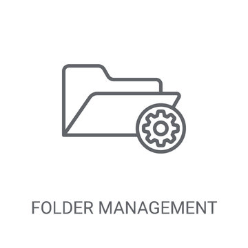 Folder management icon. Trendy Folder management logo concept on white background from web hosting collection