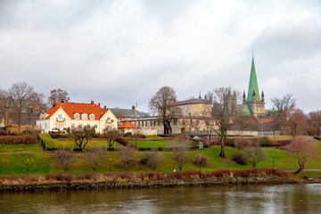 City by the river Nidelven