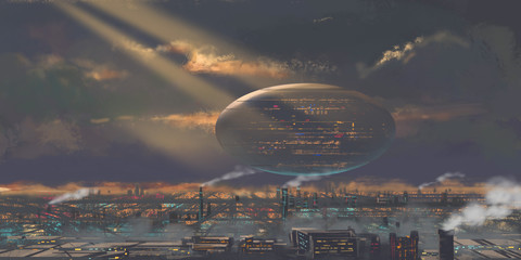 Internet World. We are Living in a Internet World, Our Real World is Falling Farther Behind. Fiction Backdrop. Concept Art. Realistic Illustration. Video Game Digital CG Artwork. Nature Scenery.
